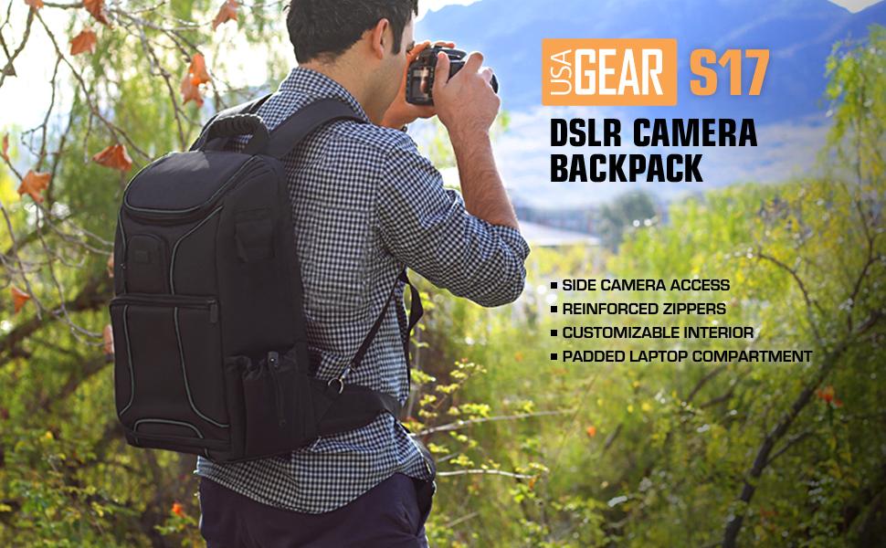 Mochila Cámara de Fotos Reflex DSLR USA Gear, Funda Resistente al ...
