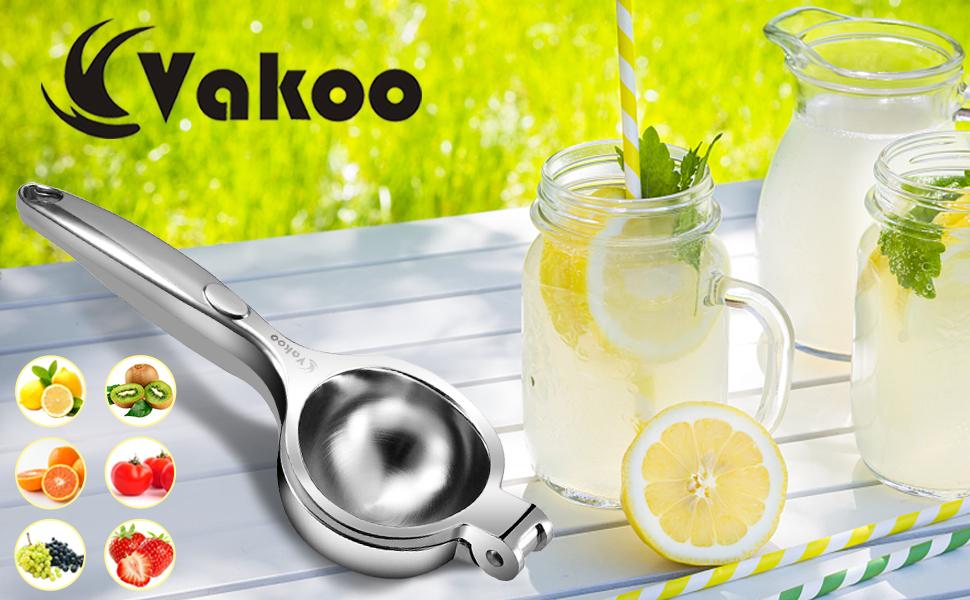Vakoo Exprimidor de jugo Prensa manual simple, adecuado para limón, jugos de naranja y