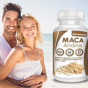 Maca andina negra con Omega 3, L-Arginina Alfa-cetoglutarato, Vitaminas y Zinc. Única Maca con Omega 3 del mercado.