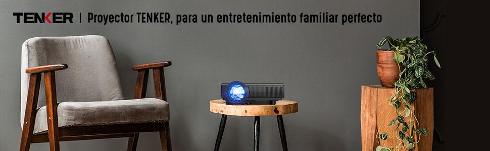 Proyector, TENKER Q5 Mini proyector de video 2200 lúmenes Full HD ...