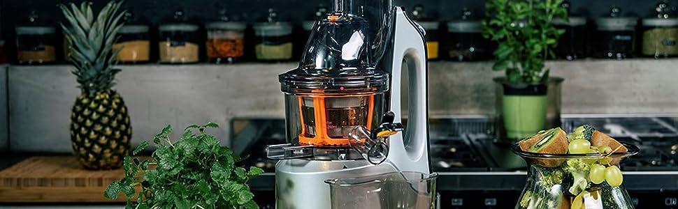 Exprimidor PJ1200 ELDOM en el mostrador de la cocina