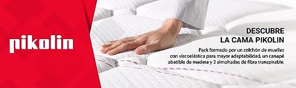 colchon, colchones 135x190, colchones viscoelasticos, pack cama + canape