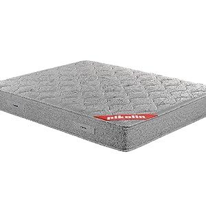PIKOLIN Pack Colchón viscoelástico de muelles 150x190+ canapé con Base abatible en Madera y Dos Almohadas de Fibra