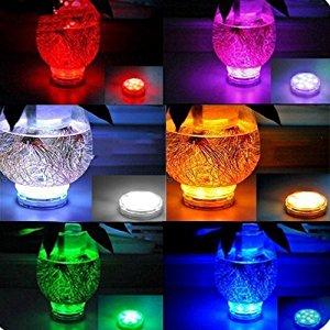 12PCS Luces Sumergibles Luz Sumergible LED con Control Remoto Luces Sumergibles Piscina para Decoración Acuario Bodas Fiesta Jardín