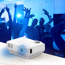 Proyector Crosstour Mini Portátil Videoproyector de Cine en Casa 50000 Horas de Vida LED Soporte Full HD 1080P HDMI/USB/VGA/AV/Micro SD (Incluye ...