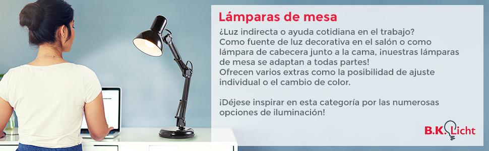 Lámpara de mesa táctil máx. 25 W E14, Altura 245 mm Ø11cm, 4 niveles de luminosidad, Lamparilla de noche moderna, Color blanco, IP20