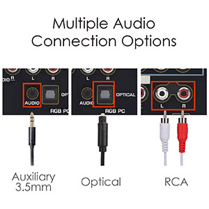 Múltiples Opciones de Entrada de Audio