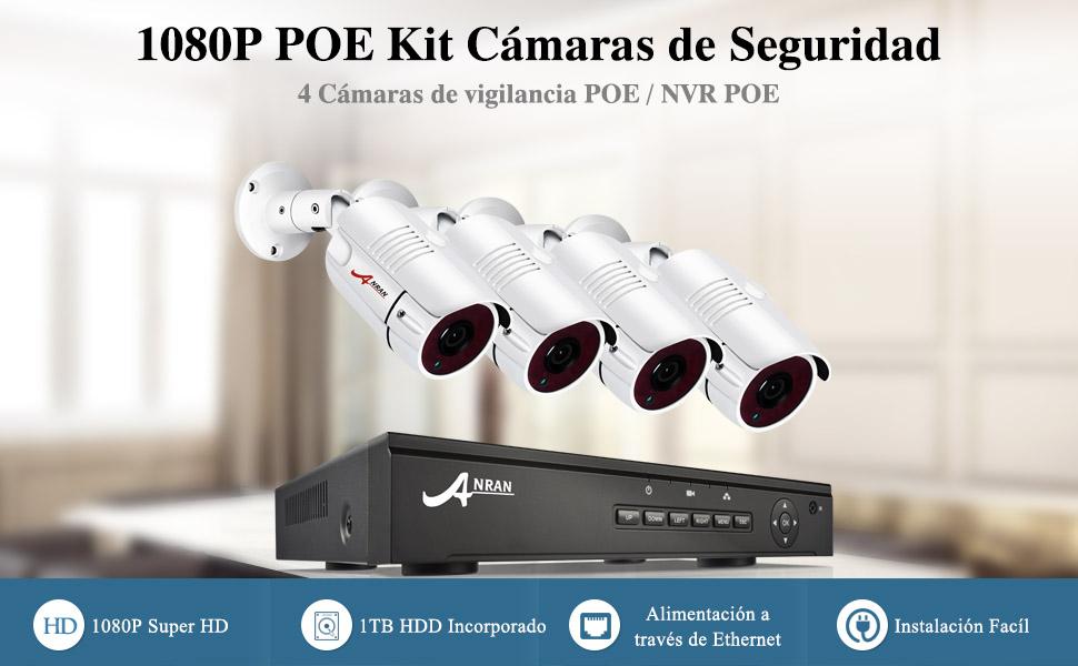Kit cámara de seguridad POE