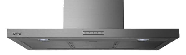 INFINITON CMP-HB90 Campana extractora (90 cm, 1050m³/h), 74db, color acero, filtro de carbon+aluminio): Amazon.es: Hogar