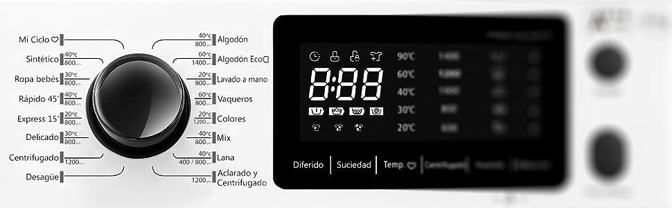 Lavadora INFINITON 10KG Inverter WM-D10INV30 Blanco (1200 RPM, A ...