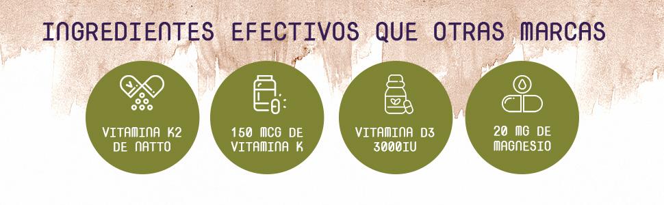 Combo 3 en 1: Vitaminas K2, D3 y Magnesio | Vitamina D3 3000IU ...