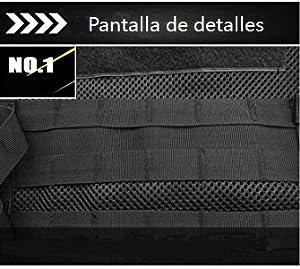 Vemico Chaleco Táctico Airsoft Multifuncional Exterior Ultra Ligero Chaleco Respirable Entrenamiento Combate Misión Especial Operaciones Campo y ...
