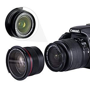 649de6f7f19e5 Este fisheye lens está instalada directamente en una lente de 58 mm de  diámetro para su uso. Es compatible con todas las cámaras SLR si con lentes  de 58 mm.