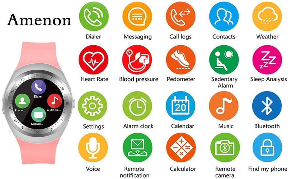 Todas las características funcionan con teléfonos Android, características parciales funcionan con iPhone. Este es un nuevo reloj inteligente ...