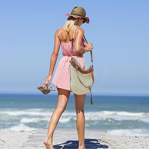 Bolso de Playa de Paja, JOSEKO Bolso de Punto para Mujer Bolso de Mimbre Bolso con manijas de Cuero Adecuado para Compras navideñas Compras Playas y ...