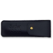 ✮ Barber Tools ✮ Navaja de afeitar + 5 cuchillas de doble hoja (10 cuchillas simples) + Paño de pulir + Almacenamiento Pu