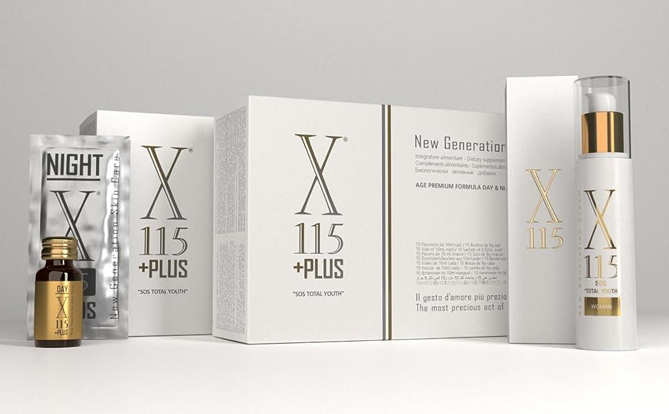 X115®+Plus ▶ Colágeno Marino + Ácido hialurónico ◀ Mejor Suplemento Para la Piel 2019 | Antiarrugas | ▪ Resveratrol ▪ Q10 ▪ Vitamina C, E, D ▪ Ácido ...