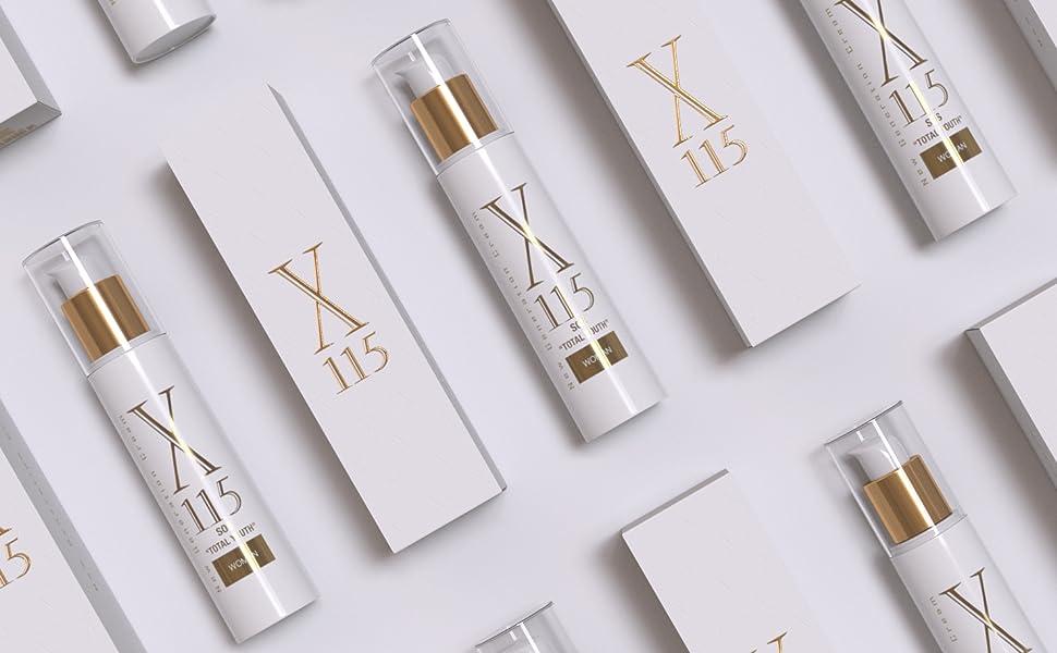 Crema antiarrugas Mujer - Airless Dosificador 50 ml - Crema X115® New Generation Cream For Woman - Fórmula Completa - 5 Azziones - HIDRATANTE Con ...