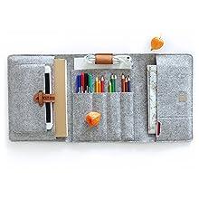 Lucky Sign - Estuche Multifuncional de Fieltro para lápices, iPad y más, B6+ - Gris: Amazon.es: Juguetes y juegos