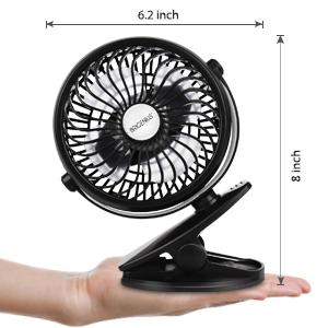 Mini Ventilador USB Silencioso Recargable Batería Ventilador ...