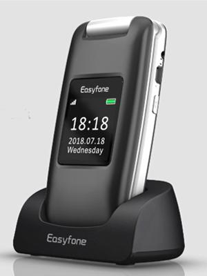 Easyfone Prime A1 3G Teléfono para Personas Mayores con Tapa, Audífonos Compatibles, Teclas Grandes, Cámara de 2.0MP, Fácil de Usar Celular para Ancianos con SOS (Negro): Amazon.es: Electrónica