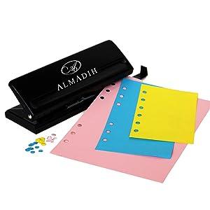 ALMADIH Carpeta de cuero A5 Calendario 2019 + Bloc de notas agenda Personal Organizador Diario documentos Cartera de conferencias Maletin Carpeta de ...