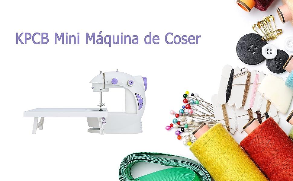 KPCB Mini Máquina de Coser Portatil y Versátil con Gran Mesa de ...