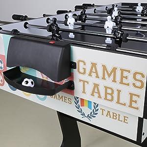 HLC® Mesa Multijuegos Plegable 4 en 1 Mesa de Billar,Ping Pong,Hockey y Futbolín (109 x 60,5 x 82 cm) Buen Regalo para Las Fiestas Juegos Entre Familia: Amazon.es: Juguetes y juegos