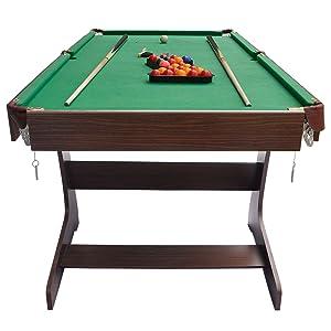 Hlc 6 pies mesa de billar plegable con las bolas y otros accesorios color verde - Mesa billar 8 pies ...