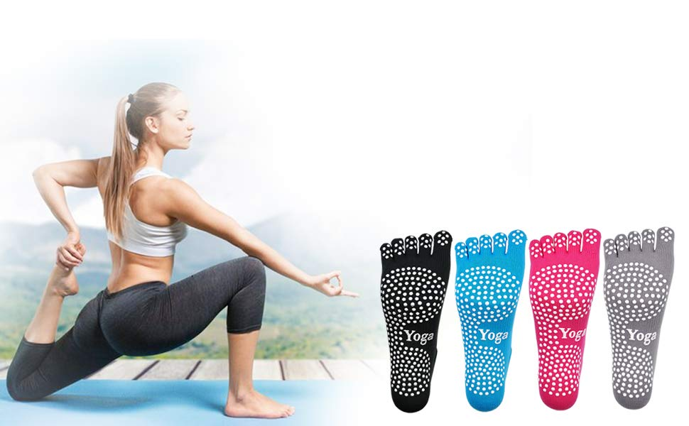 LOFIR Yoga Calcetines Mujer Pilates Ballet Calcetines Chicas ...
