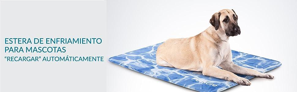 Bedsure Manta Refrescante Perro Azul - Cama Fria para Perros ...