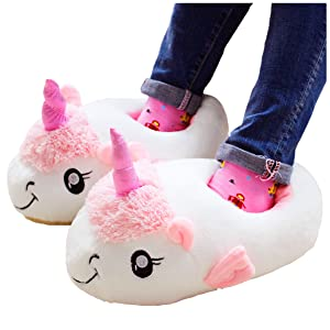 Kenmont - Zapatillas de peluche, suaves, abiertas, tallas para adultos, Ideales como regalo de Navidad multicolor Size: Taglia unica