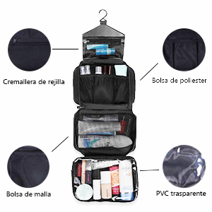 Neceser Viaje Hombre y Mujer, Boic Pequeño Bolsas de Aseo Impermeable, Neceser Maquillaje Pack Neceser Baño Toiletry Kit, Cosmético Organizadores de Viaje Travel Toiletry Bag (Azul): Amazon.es: Equipaje