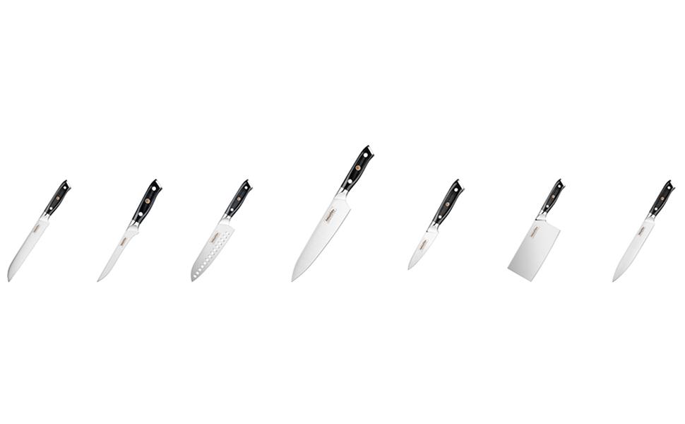 Mascot XM Cuchillo de cocinero / Cuchillo de cocina / Cuchillo de cocinero / 20 cm Cuchillo de uso general / Acero inoxidable alemán Cuchillos de ...