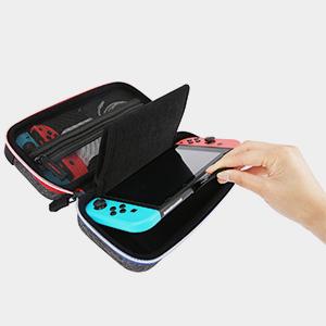 BAGSMART Funda Rigida de Transporte para Nintendo Switch Consola, Joy-Con, 10 Juegos,Viaje: Amazon.es: Videojuegos