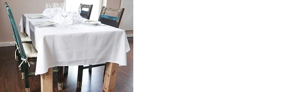ZOLLNER Mantel Blanco Rectangular de algodón 130x170 cm, Otras ...