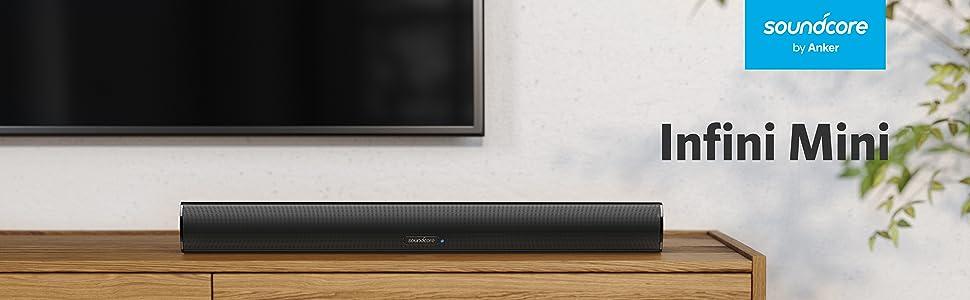 Barra de Sonido Infinito Mini SoundCore por Anker – Barra de Sonido 55 cm con Entrada Bluetooth, Cable óptico o en los para TV, Modos Cine y música, 40 W: Amazon.es: Electrónica