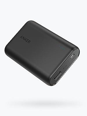 Anker PowerCore 10000 mAh - Batería externa Power Bank, Cargador portátil, extra compacto, Negro