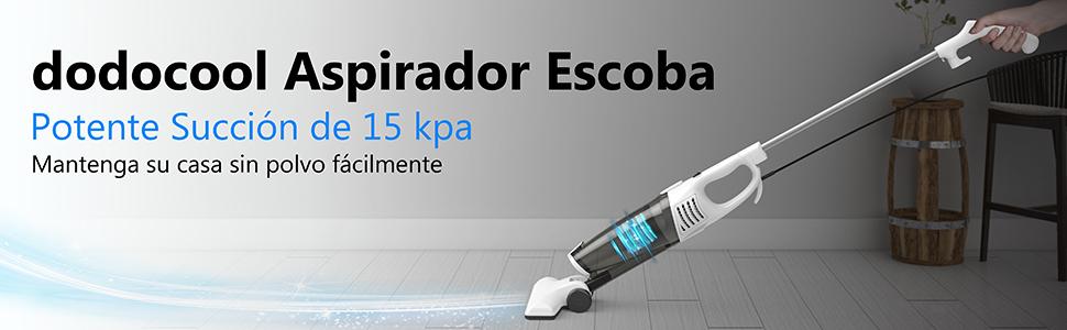 Aspiradora Vertical 2 en 1, dodocool 15000pa 800W Aspirador Escoba ...