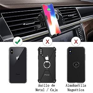 dodocool Cargador Inalámbrico Coche, Soporte Móvil Aplicable Soporte a Rejillas del Aire para Compatible iPhone XS/XS MAX/XR/X/8 Plus/Samsung Galaxy ...