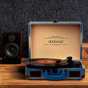 dodocool Tocadiscos Blue Tooth de Estilo Vintage, Giradiscos de ...