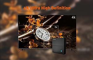 Interfaz: Puerto HDMI: HDMI 2.0. Otras Interfaces 1 * Salida HDMI 2.0 4K * 2K @ 60Hz 2 * USB 2.0 de alta velocidad, disco de la ayuda U y USB HDD