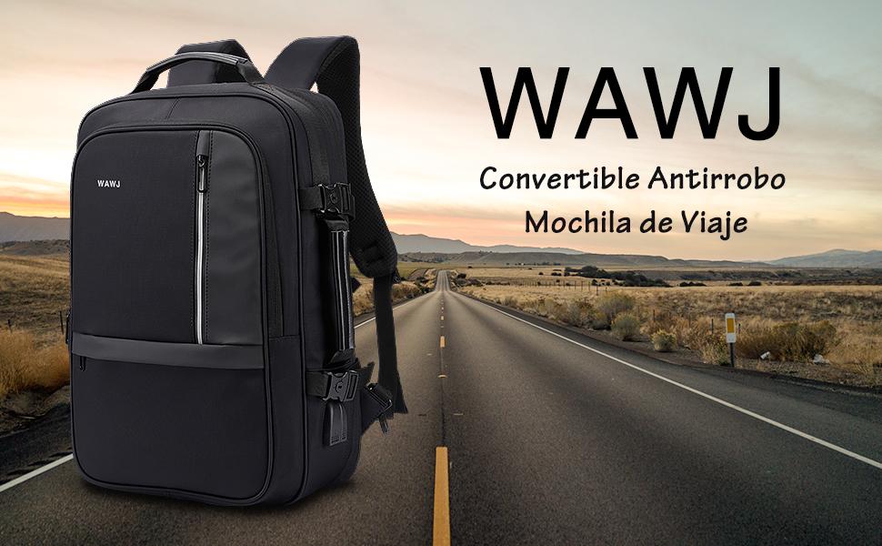 WAWJ Convertible Antirrobo Mochila de Viaje Estilo Business ...