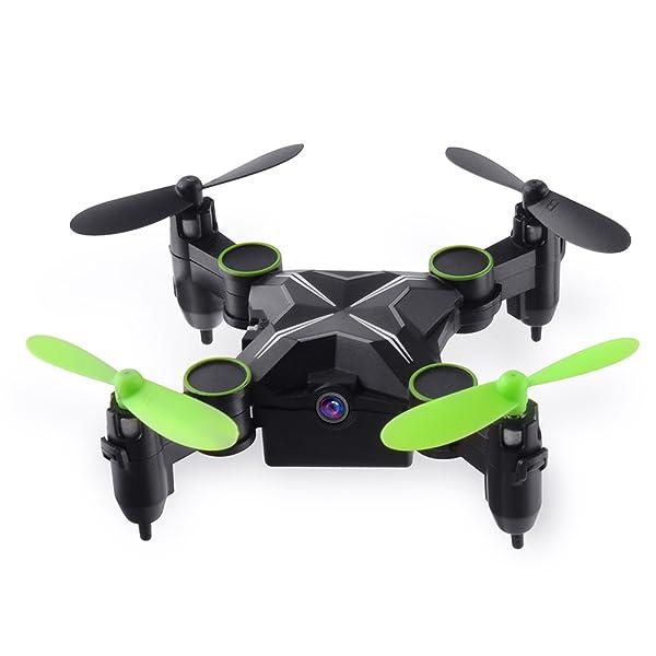 GizmoVine 901H Mini Drone de Bolsillo Gyro Plegable de 6 Ejes 2.4 ...