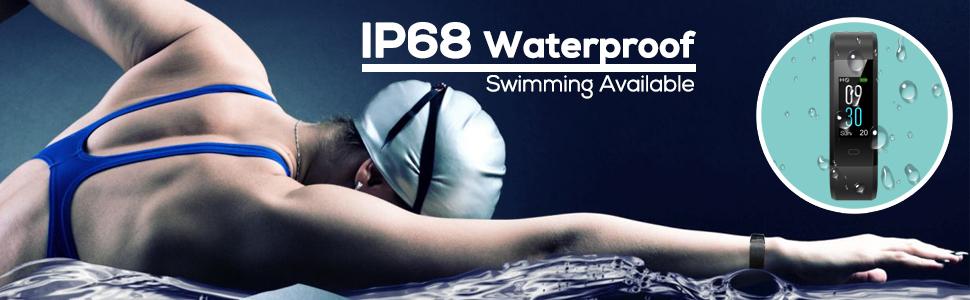 El impermeable IP68 te hace disfrutar de un agradable viaje de natación.