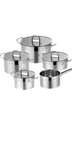 Velaze Batería de Cocina de 7 Piezas Serie Dylan Juego de ...
