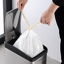 Velaze Cubo de Basura 12L de Acero Inoxidable, Basurero Reciclaje Cubos de Cocina Extraible con Pedal para Cocina, Oficina y Hogar, Aislar el Olor, ...
