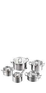 7 Piezas Serie Dylan Juego de Ollas Acero Inoxidable · Profesionales Cuchillo de Cocina Acero Inoxidable de 8 Piezas · Serie Mayne, Juego de Ollas y ...