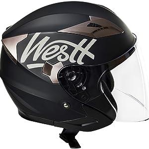 Descripción. Westt Jet · Casco moto ...