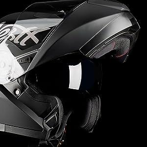 westt torque x casco moto modular integral doble visera